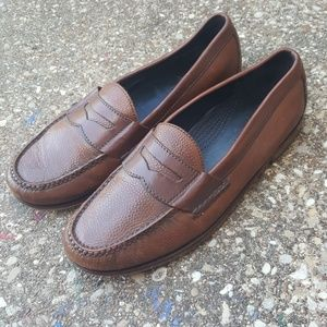 Cole Haan Pebbled Leather Penny Loafers 10.5